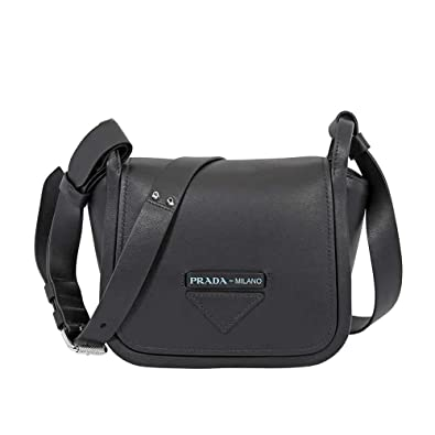 7456d50828c7 Image Unavailable. Image not available for. Color  Prada Concept Medium  Leather Crossbody- Black