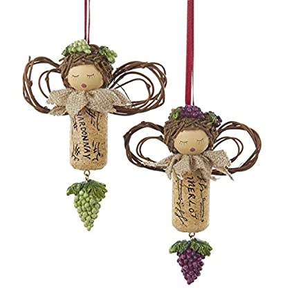 Kurt Adler 3 5 Cork Angel Christmas Ornament 2 Assorted