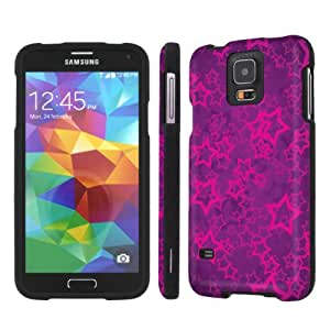 NakedShield Samsung Galaxy S5 S 5 (Purple Stars) Total Hard Armor LifeStyle Phone Case