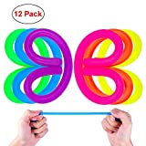 QMAY Sensory Stretchy String Toy Helps Kids Adluts to Reduce Anxiety Stress ADD, ADHD, Autism 12 pcs