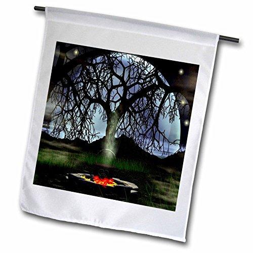 3dRose fl_26469_1 Halloween Potion Small Cauldron Garden Flag, 12 by 18-Inch
