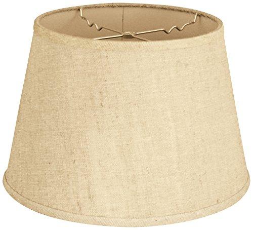 Hardback Lamp Shade, Linen Cream, 9 x 14 x 10.5 (Cream Hardback Shade)