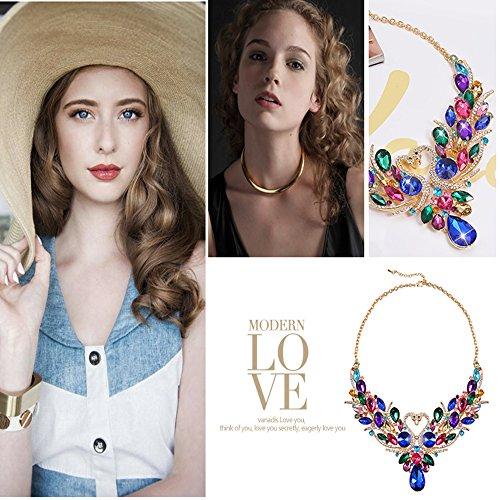 SEKAISORA Fashion Elegant Fine Diamond Necklace Temperament With Swan Set jewelry Set Chain by SEKAISORA (Image #7)