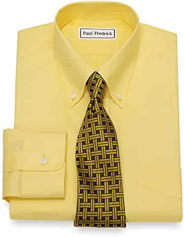 1a447f6a3ea4ba Paul Fredrick Men's Non-Iron 2-Ply Cotton Button Down Collar Dress Shirt