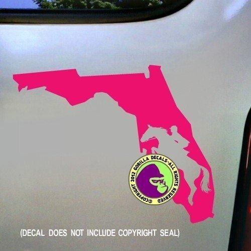 STATE FLORIDA Hunter Jumper Vinyl Decal Sticker B