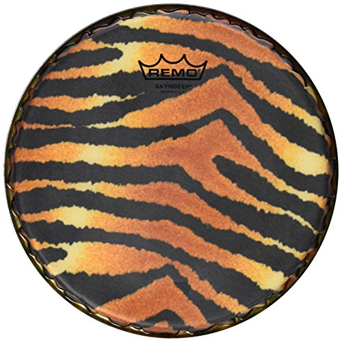 Remo Bongo Drumhead, R-Series, 9.00'', SKYNDEEP, ''Tiger Stripe'' Graphic by Remo