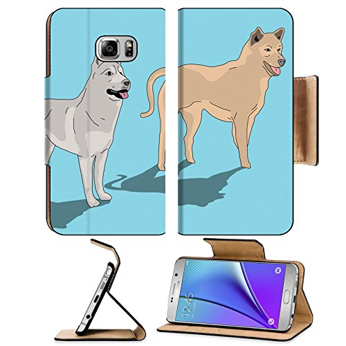 luxlady-premium-samsung-galaxy-note-5-flip-pu-leather-wallet-case-note5-image-21509796-two-dog