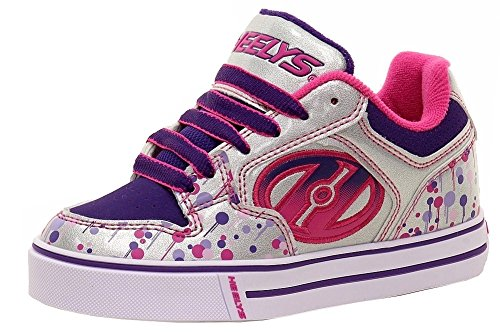 Heelys Motion Plus, Zapatillas de Deporte para Niñas Plateado (Silver / Pink / Purple / Drip)