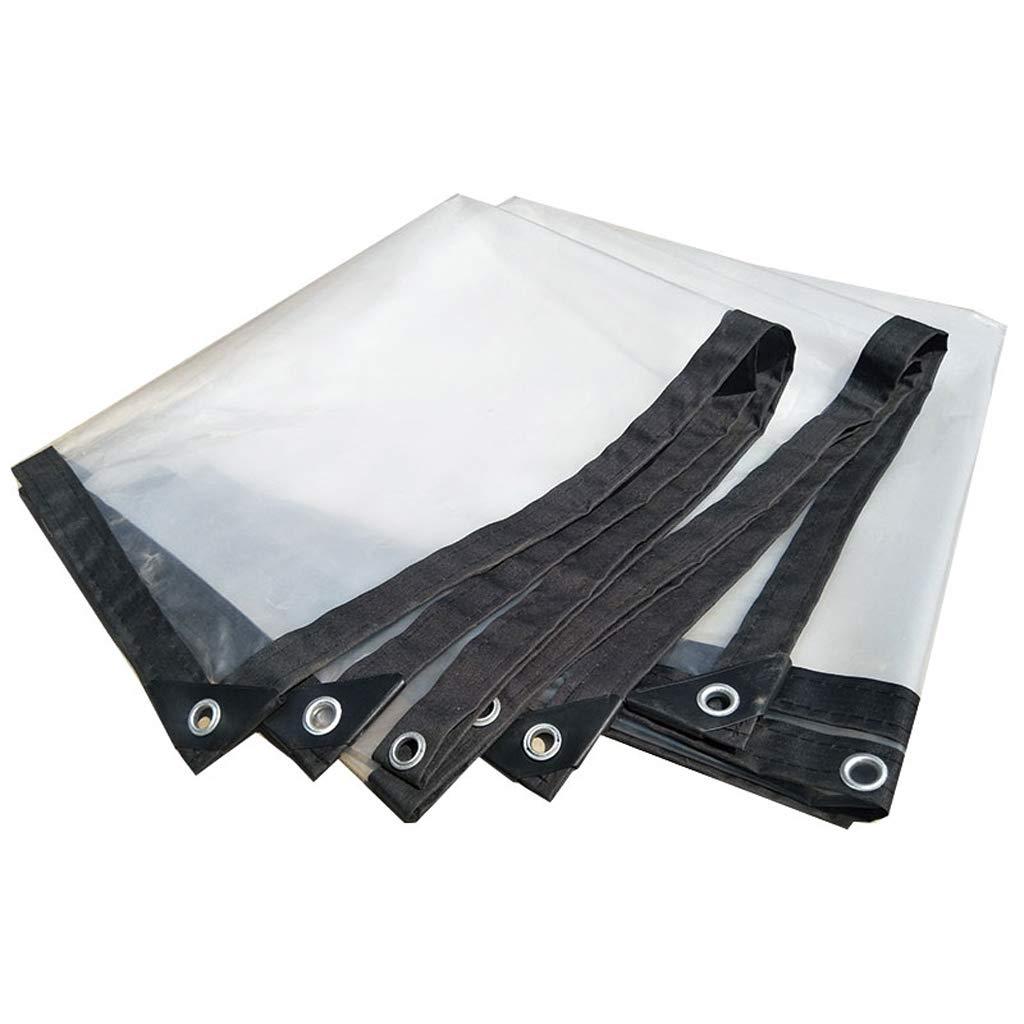 4m6m BÂche de Prougeection Toile imperméable en Plastique Transparent Feuille épaisse imperméable en Tissu Poncho en Plastique Toile de linoléum Culture Culture à Effet de Serre (Taille   2m5m)