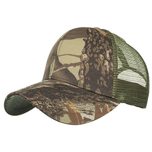 Baseball Cap,YJYdada Fashion Women Men Adjustable Camouflage Summer Cap Mesh Hats Baseball Hat Shade (Khaki)