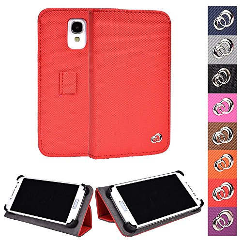 Advance Folding Cover (KroO Blu Advance 4.5, Life Play 2, Play X Universal Case   Fiesta Red Phone Holder Cover W/Foldable Stand)