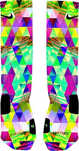 Psychedelic Prism Custom Elite Socks (X-Large) (In Sarasota Furniture)