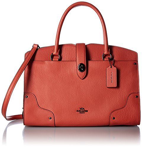 COACH Womens Coral Mercer Deep Satchel 30 wUwO04q