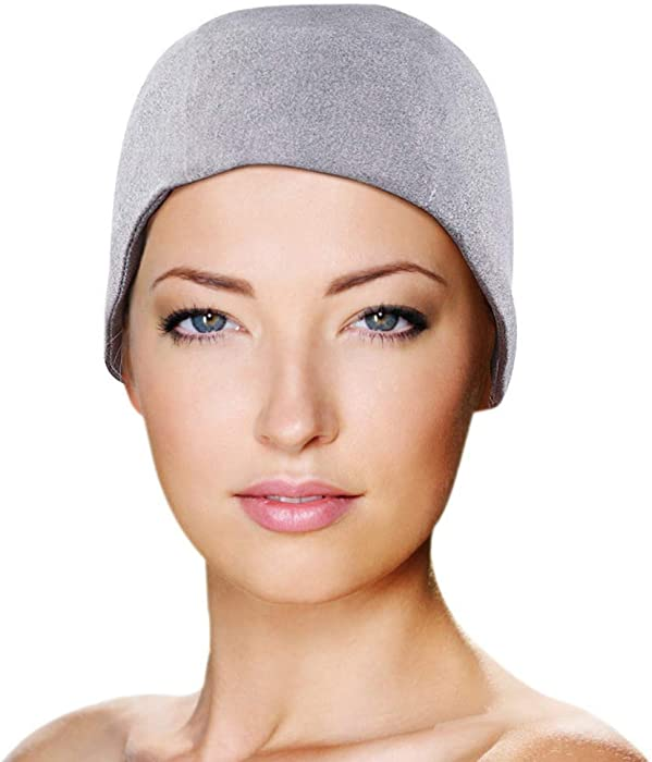 Migraine Gel Full Head Coverage Ice Hat by FOMI Care | Cranial Cold Cap | Top and Side Skull Cooling Headache and Chemo Recovery Pack | Wearable Therapy Wrap for Sinus, Stress, Pressure Pain Relief