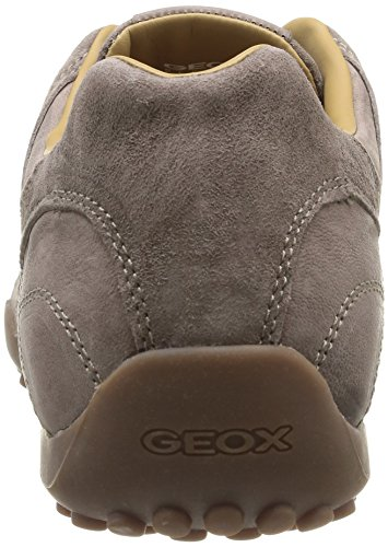 Geox UOMO SNAKE B - zapatilla deportiva de cuero hombre gris - Grau (DOVE GREYC1018)