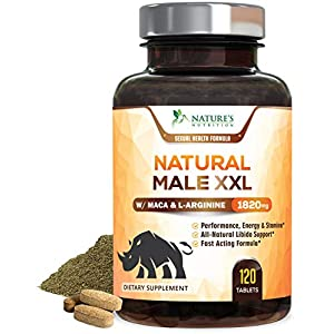 Natural Male XXL Pills - Enlargement Booster Increases Energy, Mood & Endurance - Natural Size, Stamina & Strength Booster - Best Performance Supplement for Men - 2 Month Supply - 120 Capsules natural male enchantment - 517Nsg 2BBi4L - natural male enchantment