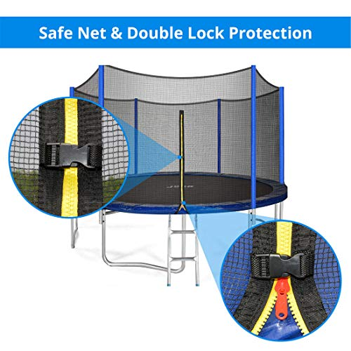 JUPA Kids Trampoline 15FT, TÜV Certificated Outdoor Trampoline with Enclosure Net Jumping Mat Safety Pad, Heavy Duty Round Trampoline for Backyard by JUPA (Image #3)