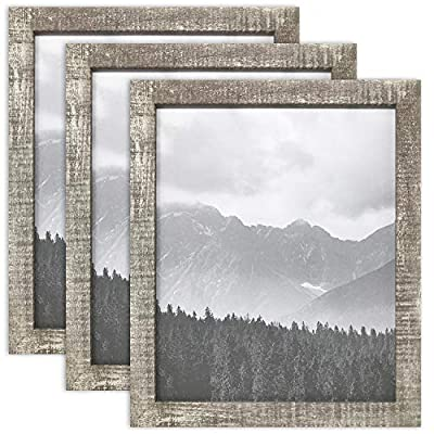 "PF+A 8x10 Picture Frame Nordic Oxford Distressed Wood Effect, Real Glass, 3 Pack - Pack of 3, 8 x 10"" Nordic frames Design: Weathered - Antique style - please note that these frames are not wooden Photo size: Display your 8 x 10"" photo / Visible area will be slightly less (see image 4) - picture-frames, bedroom-decor, bedroom - 517NstsfVPL. SS400  -"