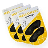 3 Pack for Heel Grips, Helloheel 100%natural Latex Foam Black Color