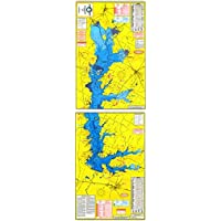 Topographical Fishing Map of Cedar Creek Lake - with GPS Hotspots