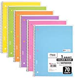 Mead Spiral Notebook 1-Subject College Ruled Pastel Color (Pack of 6) Deal