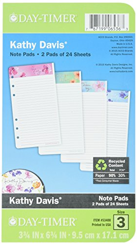 Day-Timer Notepad Refill, 3-3/4