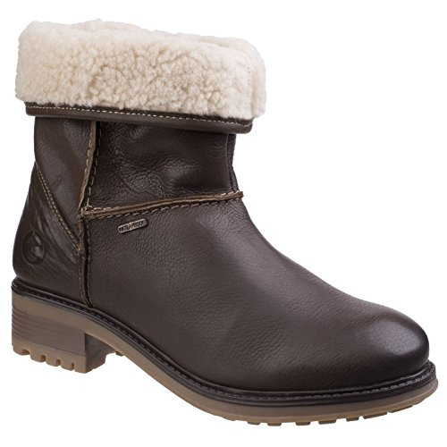Ladies Womens Heeled Ankle Waterproof Cotswold Tan Boots Bampton Adjusting qzRn5