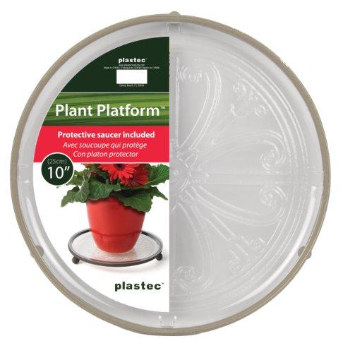 plastec-tpp10kpdq-plant-platform-10-inch-khaki