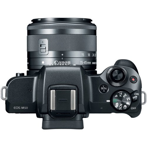 Canon EOS M50 Mirrorless Camera (Black) w/M-Adapter & Canon Lenses – EF-M 15-45mm f/3.5-6.3 is STM and EF 75-300mm f/4-5…