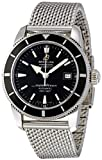 Breitling Men's A1732124/BA61SS Superocean Heritage 42 Black Dial Watch