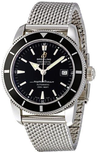 Breitling Men's A1732124/BA61SS Superocean Heritage 42 Black Dial Watch