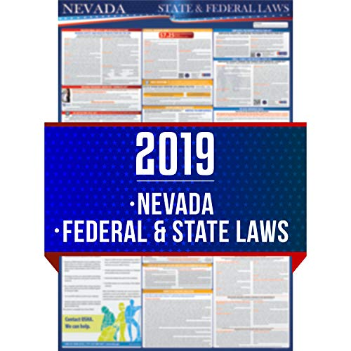 2019 Nevada State And Federal Labor Laws Poster - OSHA Workplace Compliant 24