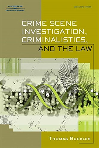 Crime Scene Investigation, Criminalistics, and The Law (Scene Buckle)