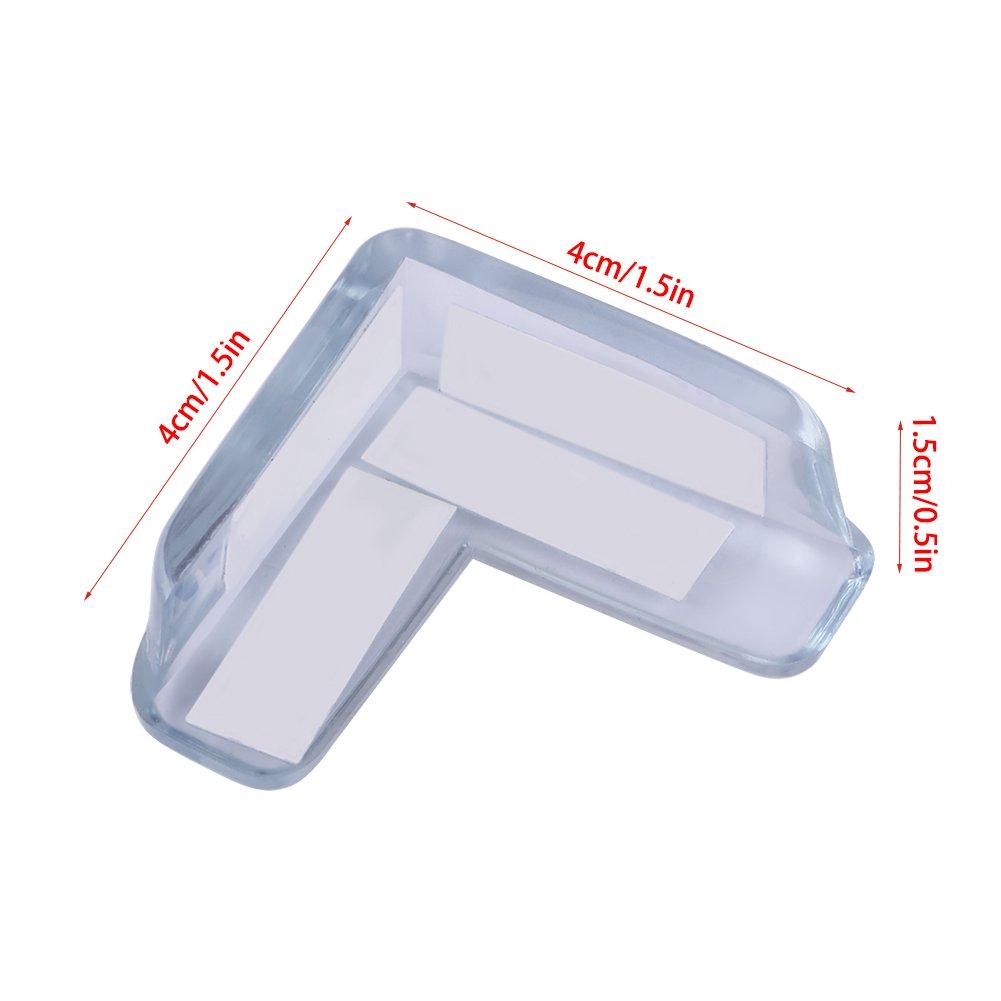 Protecteur de coin de table de b/éb/é 15Pcs b/éb/é s/écurit/é enfant Transparent protecteur Pad Pad Bord de protection de coin de table pour meubles
