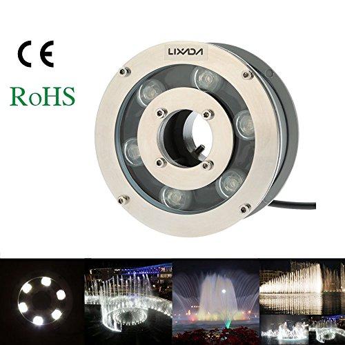 Lixada 12V 5W 600-650LM IP68 Waterproof RGB LED Outdoor F...
