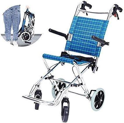 Wheelchair H-Silla De Ruedas HJH- Silla de Ruedas Plegable - Silla de Ruedas fácilmente Plegable - sillas de Ruedas autopropulsadas |Anchura del Asiento 30 cm |Máximo soportado Peso 75 kg Plegable