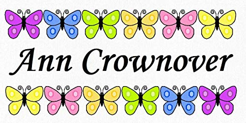 Butterfly Rows - Cotton Fabric Labels for Handmade Items/Customized Garment Clothing Size Fabric Labels/Personalized Printed Fabric Sew Tag Labels/Quilt, Crochet, Knit, Sewing - Made in USA