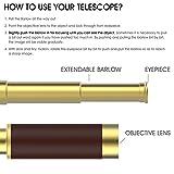 Handheld-Brass-Telescope-VAKO-Portable-Spyglass-Monocular-Collapsible-Pirate-Telescope