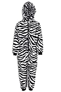 Camille Childrens Unisex Zebra Print All In One Pyjama Onesie