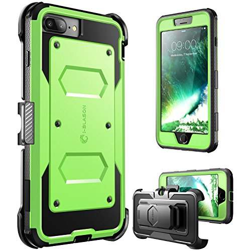 iPhone 7 Plus Case, [Armorbox] i-Blason Built in [Screen Protector] [Full Body] [Heavy Duty Protection ] Shock Reduction/Bumper Case for Apple iPhone 7 Plus (Green)