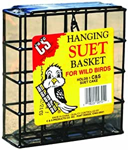 C AND S PRODUCTS CO INC P 701 HANGING PLASTIC SUET BASKET BLACK SMALL
