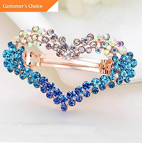 Sandover Accessories Rhinestone Hair Fashion Clip Hairpin Hair Clip Crystal Barrette | Model HRPN - 9069 |