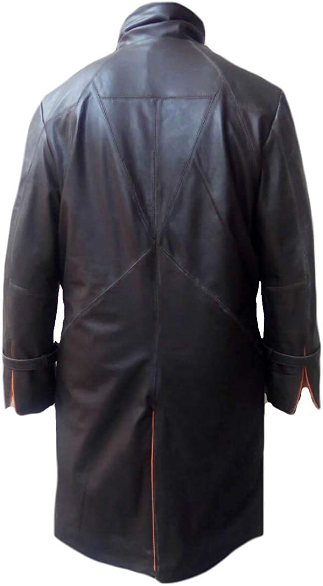 SRHides Mens Fashion WD Trench Real Leather Coat