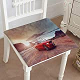 Mikihome Chair Seat Pads Cushions Monument Valley Utah USA June Ford Mustang Convertible Version at Square Car and Chair Cushion/Pad with Ties, Soft, for Indoors Or Outdoor 26'x26'x2pcs