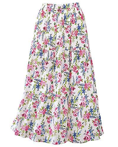 National Floral Crinkle Skirt, Light Pink, Small