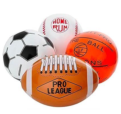 amazon com rhode island novelty 16 sports ball inflates assortment