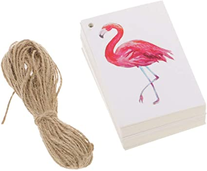 Proud Pink Flamingo White Gift Boxes Set of 2