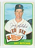 Jay Ritchie AUTOGRAPH d.16 1965 Topps #494 Boston Red Sox SEMI HIGH NUMBER CARD IS CLEAN VG; SL BEND