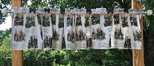 John Deere Drapes (Handcrafted Curtain Valance Custom Sewn From John Deere Farm Tractor Fabric NEW)