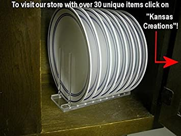 Vertical Plate Rack-Display or Storage & Amazon.com - Vertical Plate Rack-Display or Storage - Kitchen ...